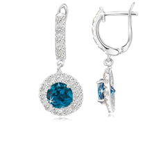 2.50 Ct Topaz Earrings