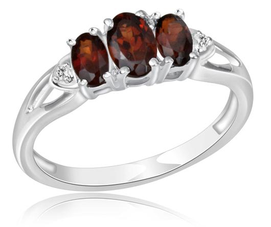 1.5 Carat Garnet & Diamond Ring in Sterling Silver Garnet_stone_ring-3