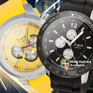Sheffield Men's Sport Quartz Watch Collection – Your Choice of 4 Modern, Vibrant Designs!