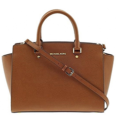 Selma Tan Leather Satchel