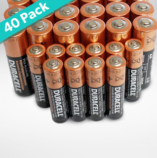 40-Pack Duracell Alkaline Batteries