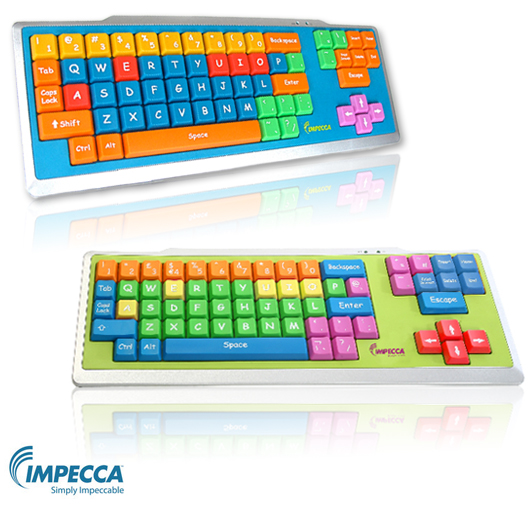 Impecca Early Learning Junior Keyboard with Large Format Keys - Color Coded by Vowels, Consonants & More! Impecca_junior_keyboard-1