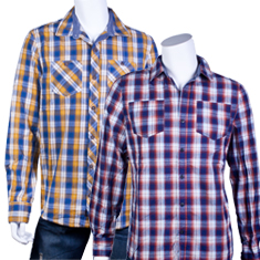 Distortion Ombre Plaid Shirt