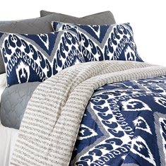 6-Pc Reversible Comforter Set