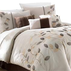 7Pc Embroidered Comforter Set