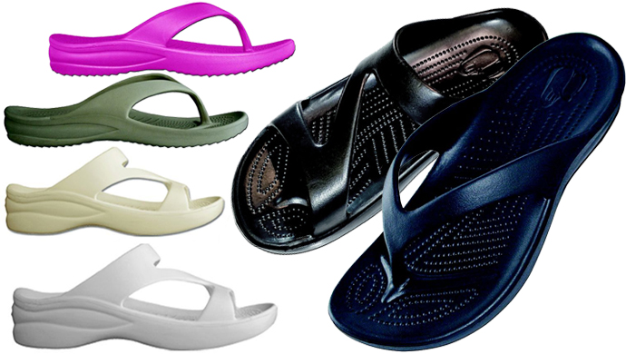 ee7d2c68b92f1 DAWGS Hounds Ultra-Light Z-Sandals or Flip-Flops for Ladies  14.99 + ...