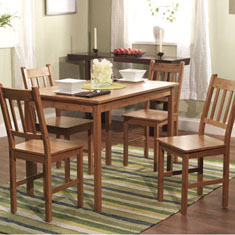 5-Pc Bamboo Dining Set