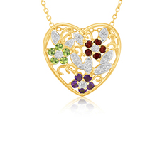 2 Ct Gem Heart Pendant