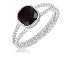 1.50 Ct Black Onyx Ring