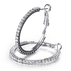 Swarovski Elements Hoops