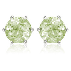 3.6 Ctw Round Stud Earrings