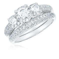 1.50 Ct Diamond Bridal Set