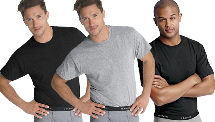 8-Pk Hanes Undershirts for Men