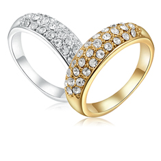 Austrian Crystals Pave Ring