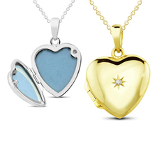 1/10Ct Diamond Heart Locket