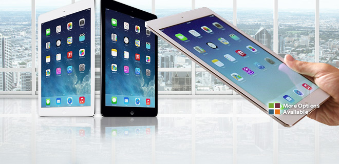 $349.99 After Rebate - Apple iPad Mini 64GB Wi-Fi + Unlocked 4G Data (GSM) – 2 Color Choices!
