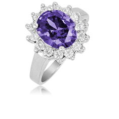 3 Ct Amethyst Ring
