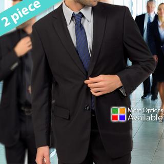 Braveman 2-Piece Dress Suit for Men in Choice of 5 Classic Colors!