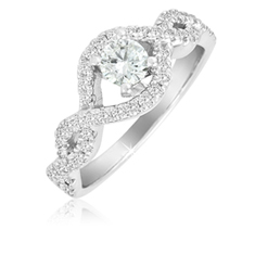 1 Ct. Diamond Infinity Ring