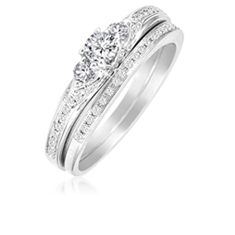 1/2 Ct Diamond Bridal Set