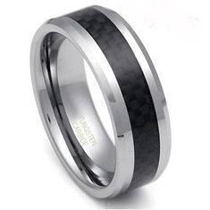Polished Tungsten Ring