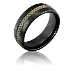 8MM Men's Black Ceramic Ring