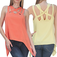 Multi-Strap Drape Top