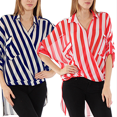 Stripe Wrap Shirt