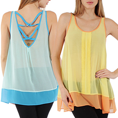 Pleated Chiffon Top