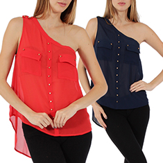 One Shoulder Spike Top