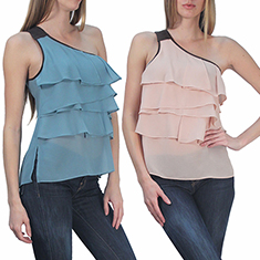One Shoulder Layer Top