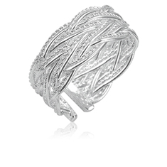 Silver-Tone Braided Ring