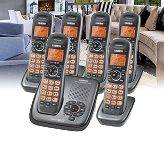 Uniden 6 Handsets Cordless Phone Set
