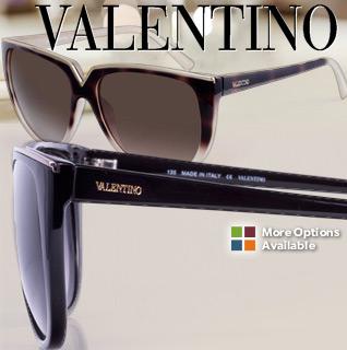 Valentino Havana/Ivory Wayfarer Ladies Sunglasses