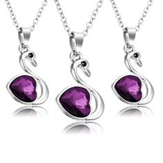 3-Pk: Purple Swan Pendant