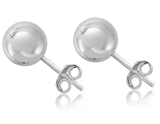 Silver Ball Studs
