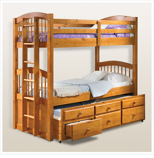 1 Sale A Day Deals Micah Honey Oak Twin Bunk Bed ONLY $499 99