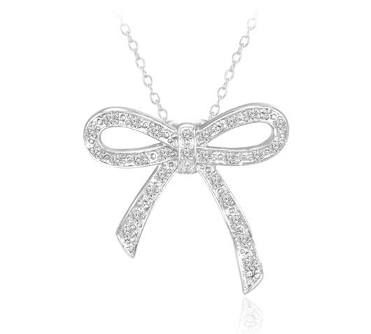 Diamond Bow Pendant