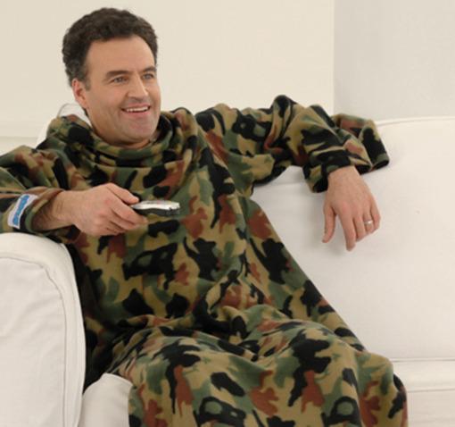 Allstar Snuggie Cotton Fleece Blanket with Sleeves