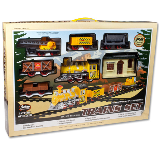 Battery Train Set : Piece battery powered large train set with authentic