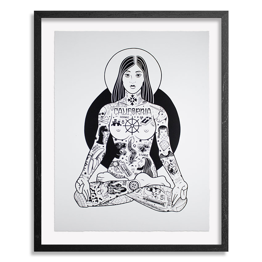 Yogini - 18x24 Inch Screen Print - Edition of 108