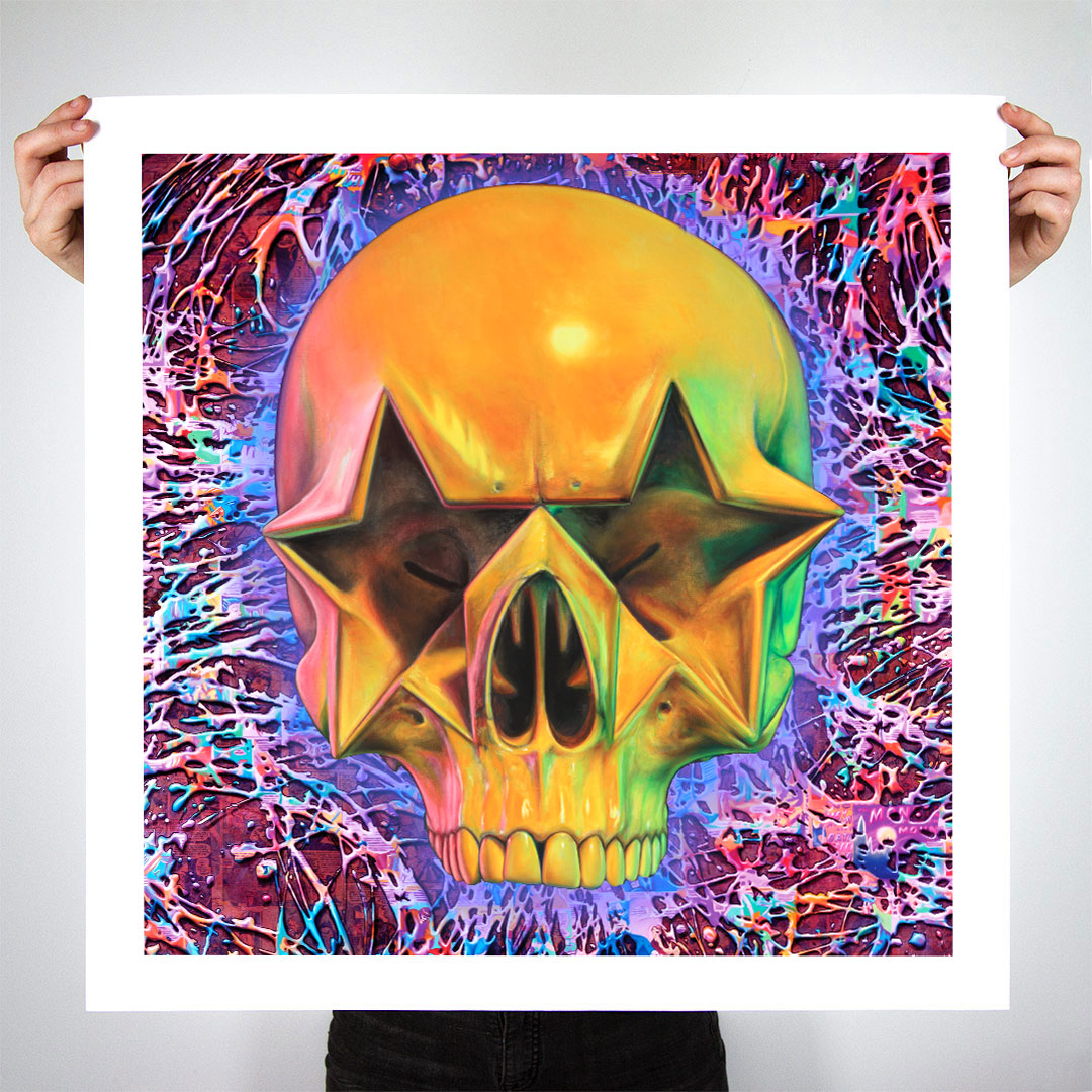 """Star Skull - 24"" x 24 Edition"" by Ron English"