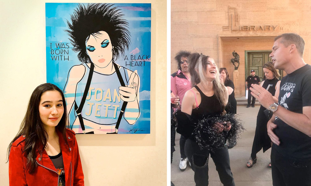Joan Jett portrait by Niagara commissioned by Shepard Fairey / Niagara & Shepard Fairey @ Cranbrook Museum For Salad Days