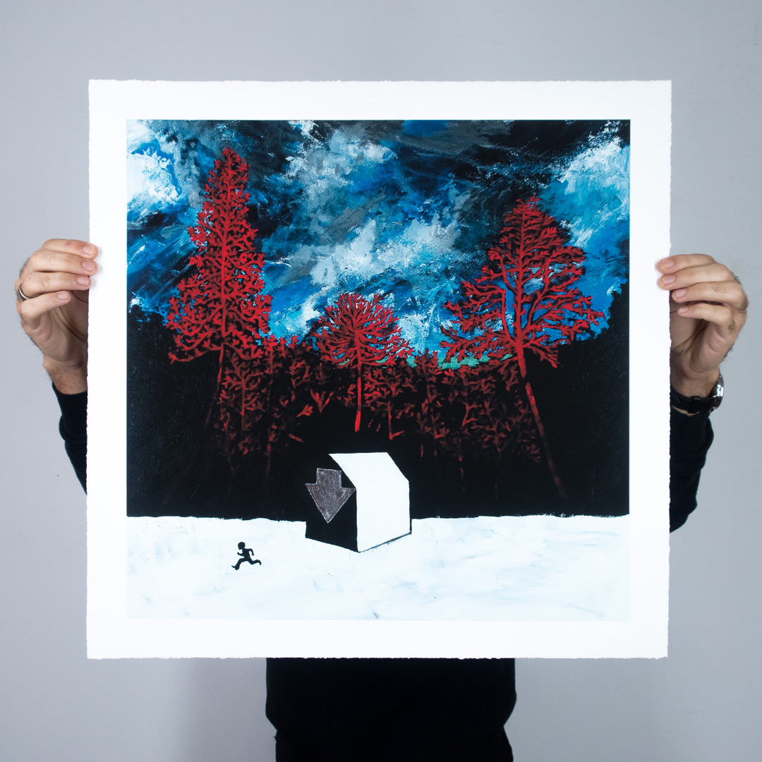 Run by Stanley Donwood - Click to Purchase