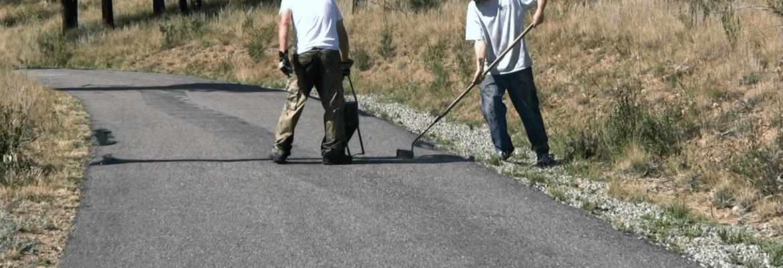 When should asphalt driveways have cracks sealed?