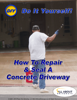 Learn how to repair and seal a concrete driveway yourself