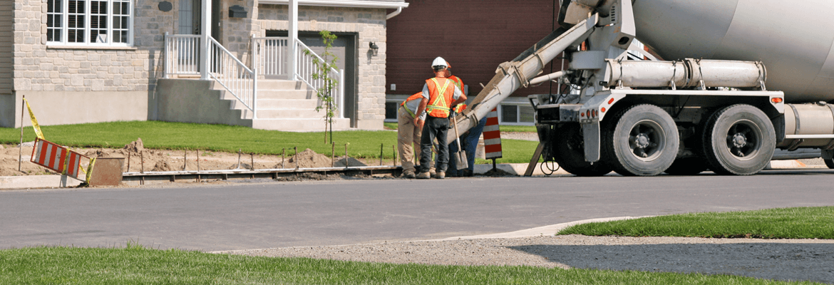 The cost of a concrete driveway is determined by strict calculated method