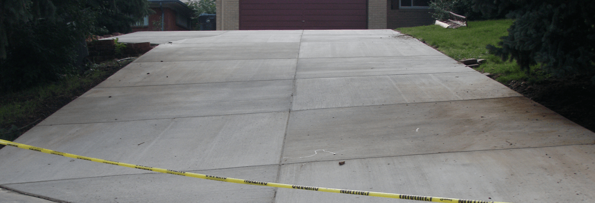 Proper care and maintenance of a concrete driveway
