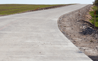A concrete driveway needs to be the correct width especially on curves