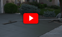 Video about pouring a concrete driveway that will last